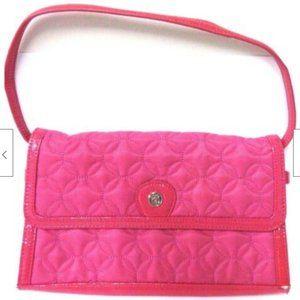 Vera Bradley Satchel Pink New Quilted Strap Purse